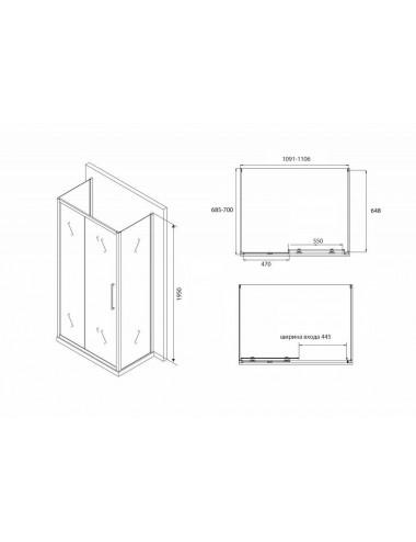 Решетка Alcaplast MP1200-1150 камень белый/нерж. сталь матовая