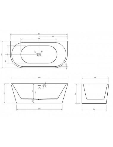 ABBER AB9224-1.6 акриловая ванна 160x80