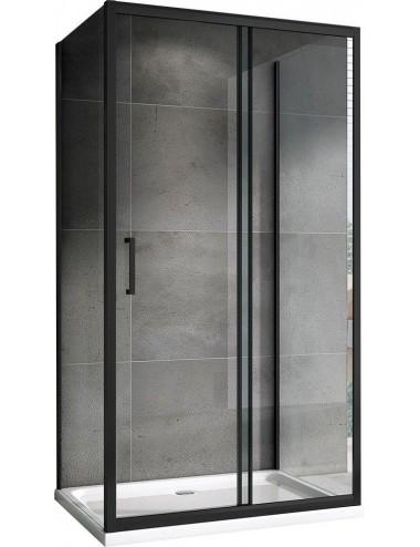 Решетка Alcaplast MP1205-650 камень черный/нерж. сталь матовая