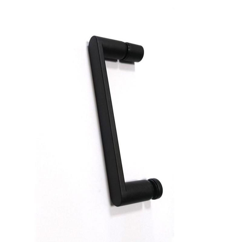 Решетка Alcaplast MP1205-850 камень черный/нерж. сталь матовая