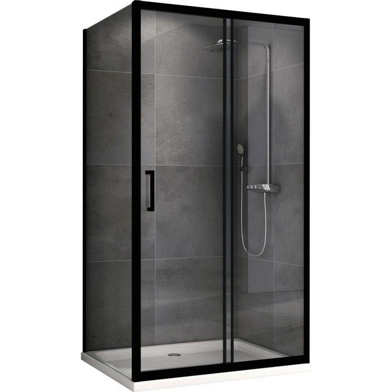 Решетка Alcaplast MP1205-950 камень черный/нерж. сталь матовая