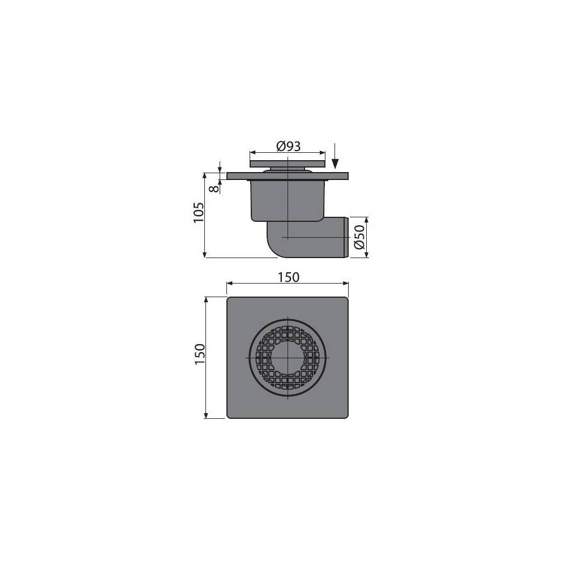 Решетка Alcaplast POSH-1150MN матовая