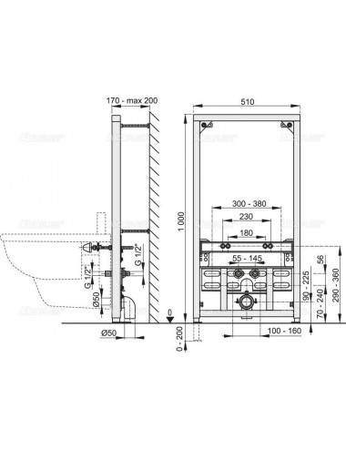 Решетка Alcaplast PURE-1050M матовая