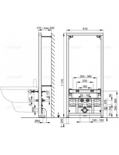 RELISAN ZOYA 140x90-L акриловая ванна