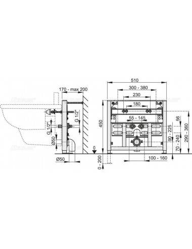 RELISAN ZOYA 140 х 90 х 42 (170л) R акриловая ванна