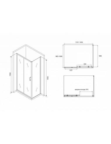 Решетка Alcaplast TILE-1050 под плитку