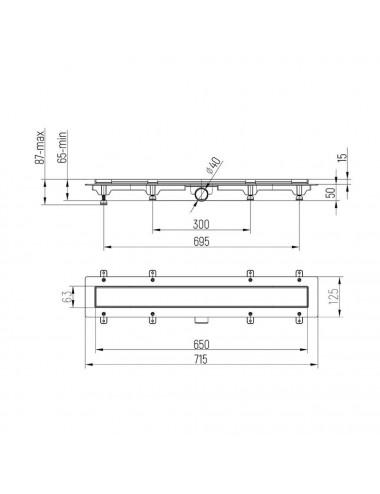 OMNIRES PARMA смеситель для ванны отдельностоящий, черный матовый, арт. PM7433BL