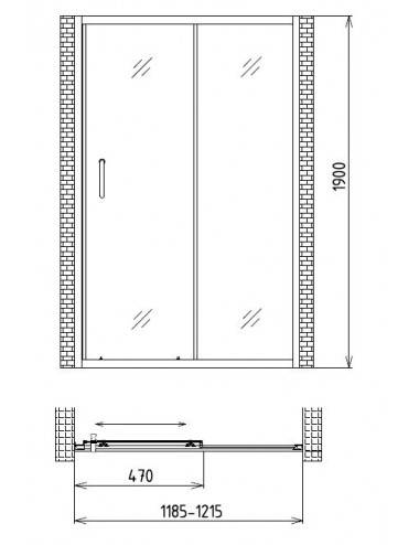 OMNIRES SIENA 161x81 ванна из литого мрамора SIENAWWBCP, белый/черный глянец