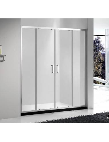 OMNIRES MAYFAIR левая шторка для ванны одностворчатая 70 cм QP93B-LLUXCRTR, хром/прозрачный