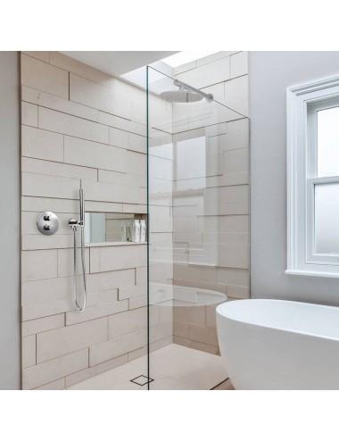 OMNIRES MAYFAIR правая шторка для ванны одностворчатая 70 cм QP93B-PLUXCRTR, хром/прозрачный