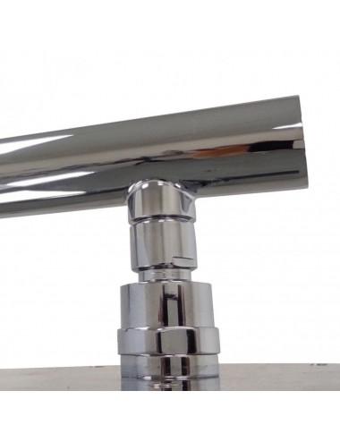 BERGES WASSERHAUS DEA 061010 80x80 стекло прозрачное/хром душевой уголок