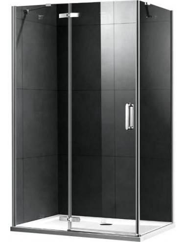 OMNIRES MAYFAIR левая шторка для ванны, двухстворчатая, 115 cм, хром / прозрачный, арт. QP95B-LLUXCRTR