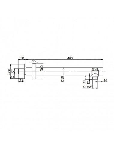 Berges Wasserhaus Gelios 61003 100x80 стекло прозрачное/хром душевой уголок