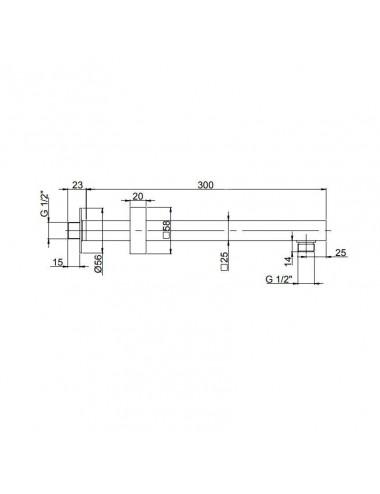OMNIRES ALBANY смеситель для мойки, инокс, арт. AB1450IN