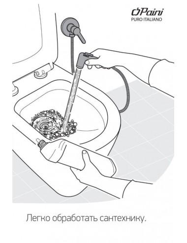OMNIRES VITA смеситель для мойки, хром / черный матовый, арт. VI6350BLCR