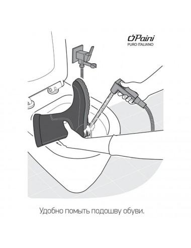Berges Wasserhaus NEW Feda 063003 80 стекло прозрачное/хром душевая дверь