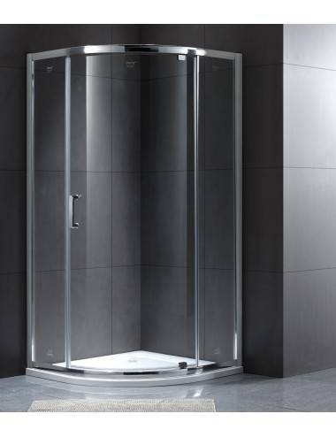 Berges Wasserhaus NEW Feda 063004 90 стекло прозрачное/хром душевая дверь