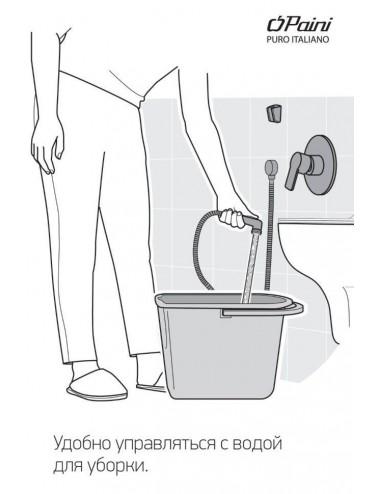 BERGES WASSERHAUS NEWS 063004 90 стекло прозрачное/хром душевая дверь
