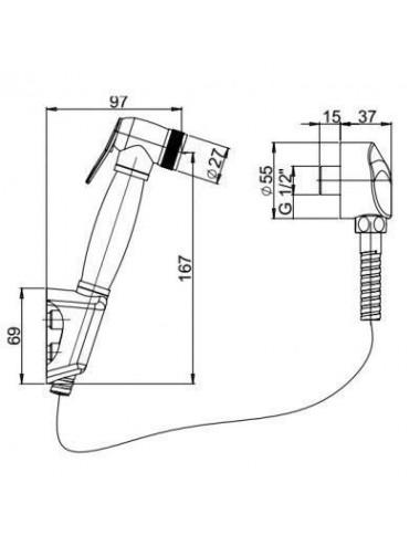 PAINI PAVIA 50CR124/P17 душевой гарнитур