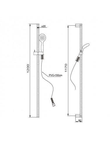 PAINI DAX 84CR689THSQ4P1 душевая стойка с термостатом