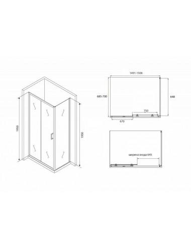 VAYER AZALIA 170 x 105 х 47 (280л) L акриловая ванна