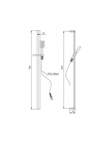 OMNIRES DREAM столешница для тумбы, 60x46 см, белый глянец, арт. OMNIDREAMBL-60XBP