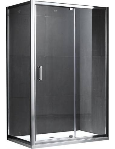 OMNIRES KENTON шторка для ванны, одностворчатая, 70 cм, хром / прозрачный, арт. MP75CRTR