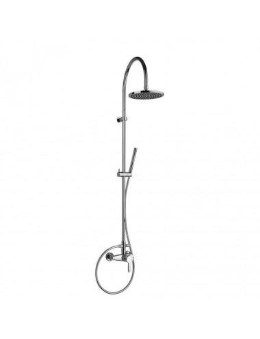 OMNIRES MAYFAIR правая шторка для ванны, одностворчатая, 70 cм, хром / прозрачный, арт. QP93B-PLUXCRTR