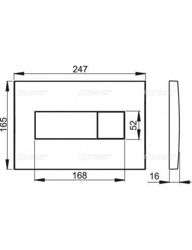Клавиша смыва Alcaplast Basic M1718 черная