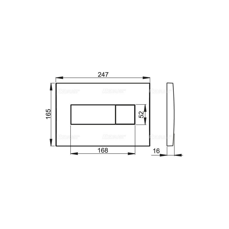 Клавиша смыва Alcaplast Basic M271 хром глянцевый