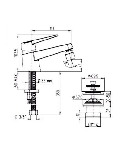 PAINI PALERMO PACR111KM смеситель для ванны / душа