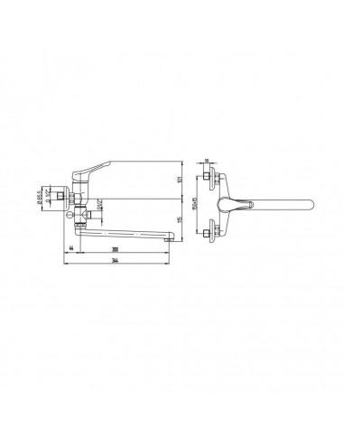 PAINI TRENTO TRCR119LMKM смеситель для ванны / душа с длинным изливом