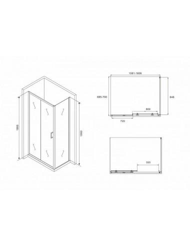 ALPEN DIANA 150 x 70 х 48 (190л) гидромассажная ванна