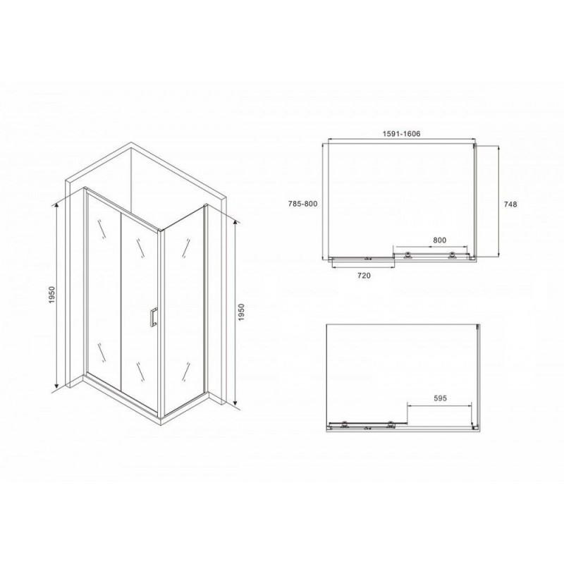 Клавиша смыва Alcaplast Flat Stripe Glass STRIPE GL1204 черное стекло