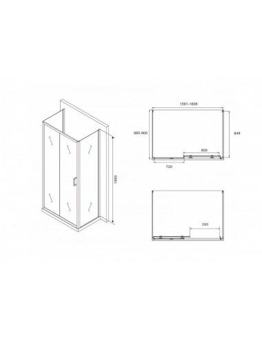 ALPEN ALASKA 170 х 75 х 41 (205л) гидромассажная ванна