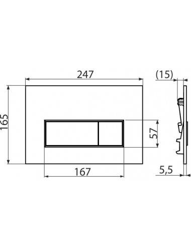 Монтажная рама Alcaplast A105/1200 для биде