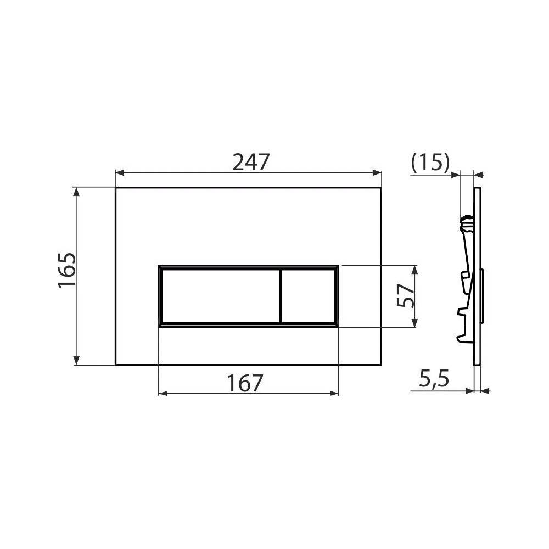 Монтажная рама Alcaplast A113/1120 для подвесного унитаза