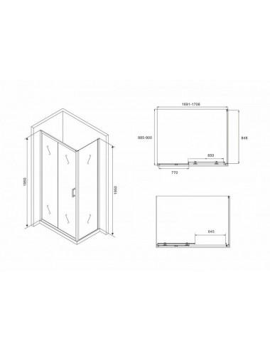 Монтажная рама Alcaplast A117B для смесителя хром