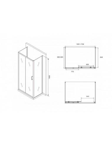 Смывной бачок Alcaplast Alcamodul AM100/1000E для унитаза