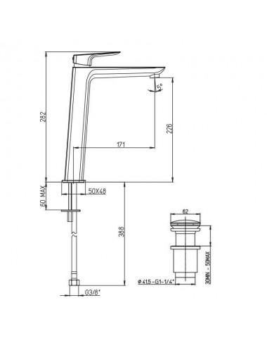 BERGES WASSERHAUS MELITA 061018 120x90 стекло прозрачное/хром душевой уголок