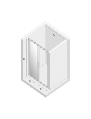 BERGES WASSERHAUS SKY 064003 100 стекло прозрачное/хром душевая стенка