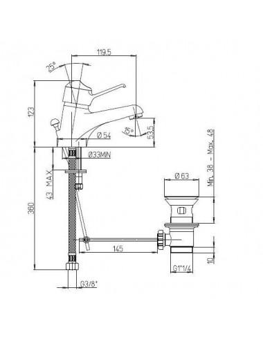 BERGES WASSERHAUS GELIOS 061025 90x90 стекло прозрачное/хром душевой уголок
