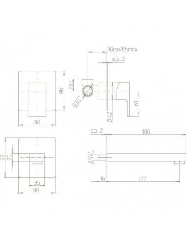 RELISAN ZOYA 140x90 R ванна акриловая
