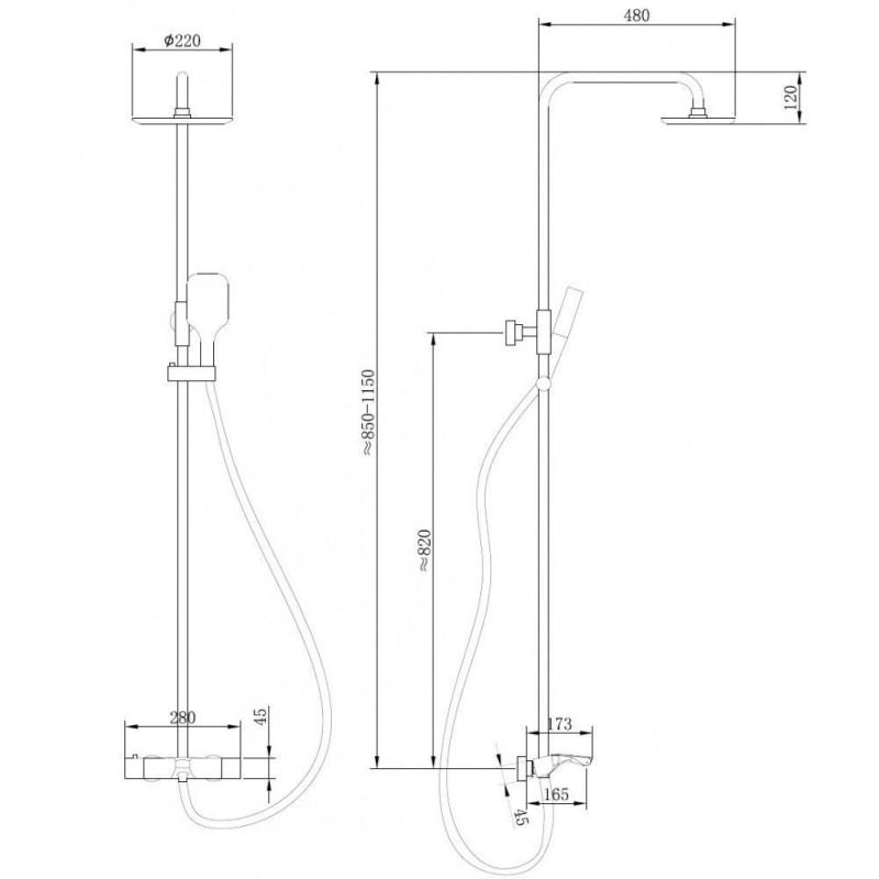 ALPEN RUMINA 150x150 акриловая ванна