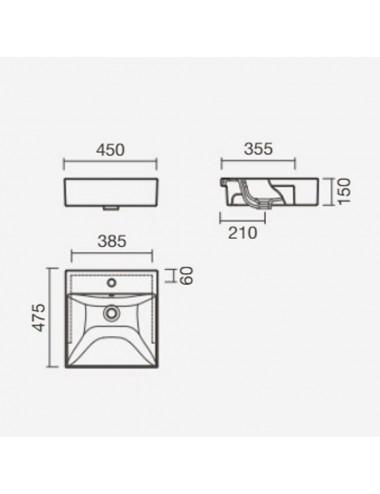 RIHO экран для ванны 190 см, с крепежем