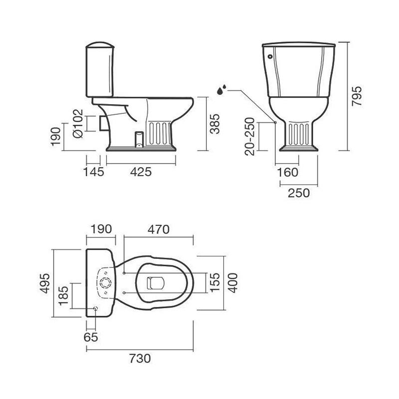 RIHO KOLPING DB18 экран для душевого поддона