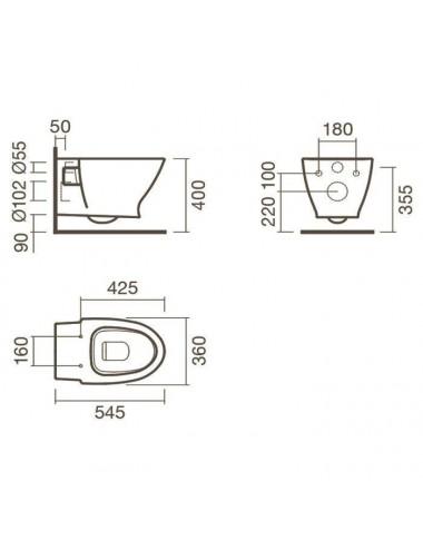 GEMY VICTORIA S30191D душевая дверь 110 см