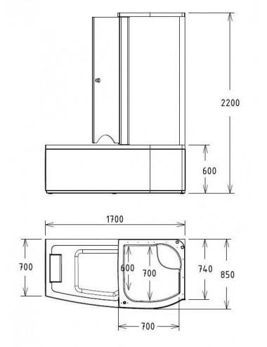 GEMY VICTORIA S30192C душевая дверь 170 см