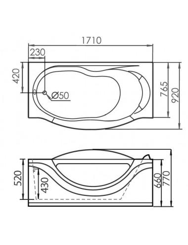 VAYER CASOLI 180x80 ванна акриловая