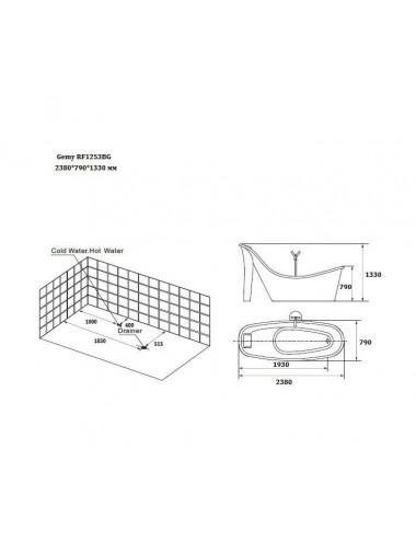 VAGNERPLAST SELENA 160x105-R акриловая ванна